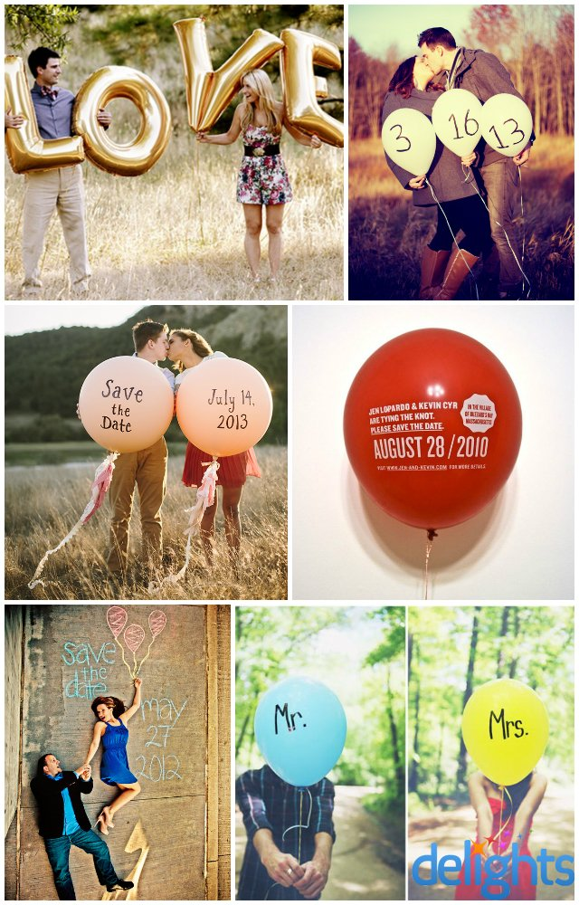 Balloon Save The Date Ideas Party Delights Blog