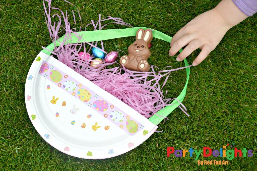 Easter basket craft for kids party delights blog easter basket craft for kids negle