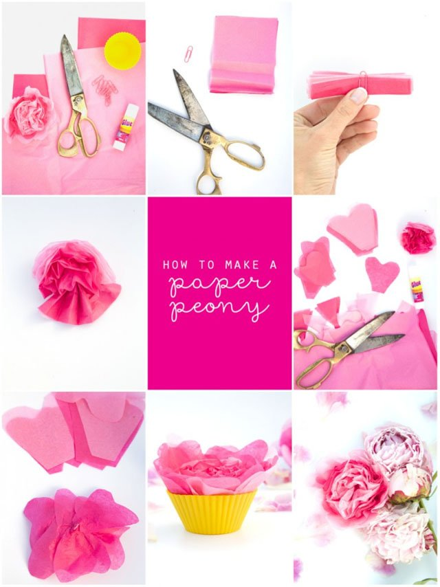 How to make paper peonies | Party Delights Blog