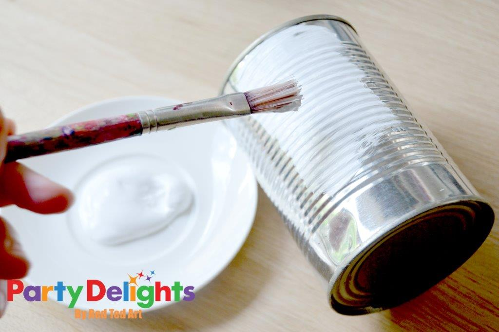 Shabby Chic tin can craft