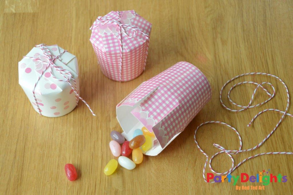 paper cup crafts party favour boxes party delights blog
