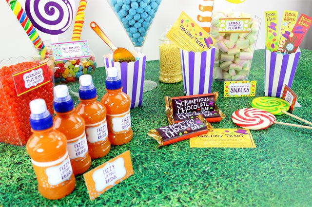 Willy Wonka sweet table