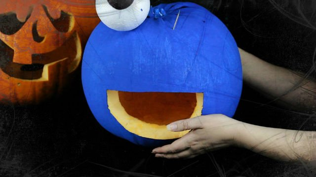 How To Make A Cookie Monster Pumpkin