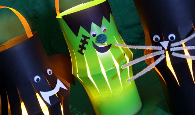 how to make childrens halloween lanterns halloween lanterns - How To Make Halloween Lanterns