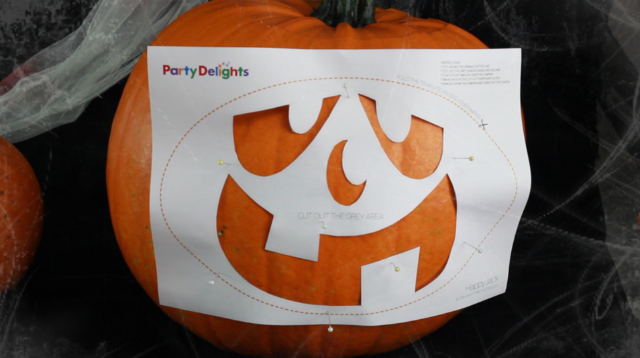 How To Use A Pumpkin Carving Stencil Party Delights Blog
