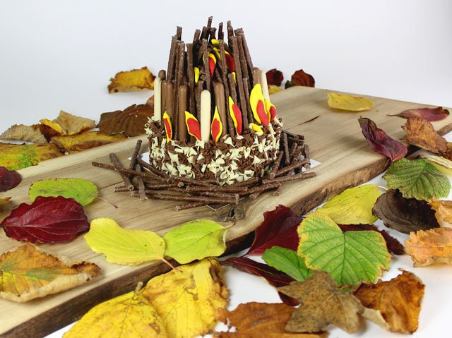 Finished Bonfire Cake