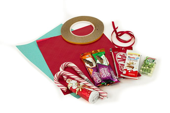 What You Need to Make a Candy Cane Sleigh