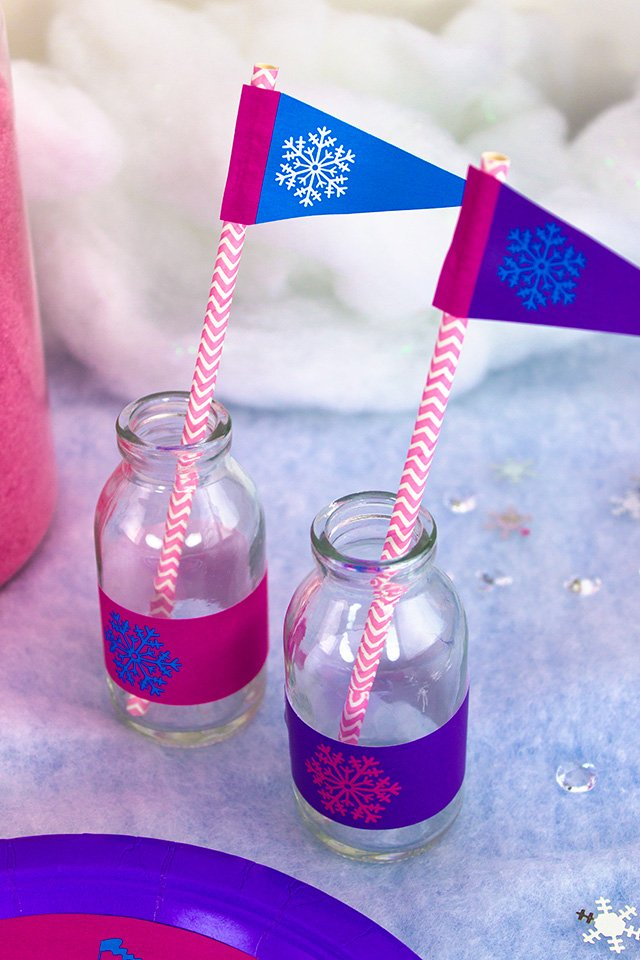 Frozen Party on a Budget - Printable Straw Decorations