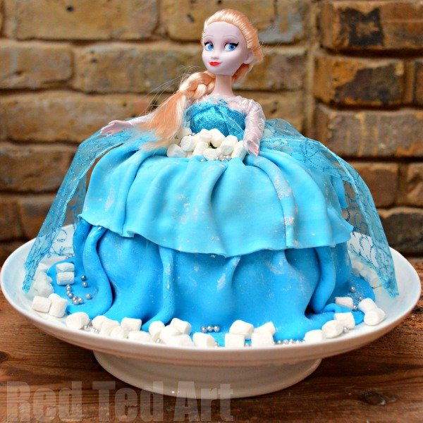 DIY Elsa Cake - Red Ted Art