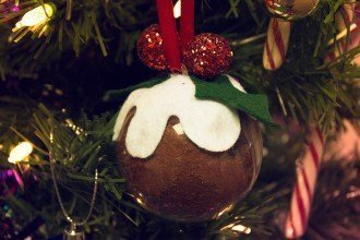 Homemade Christmas Pudding Bauble