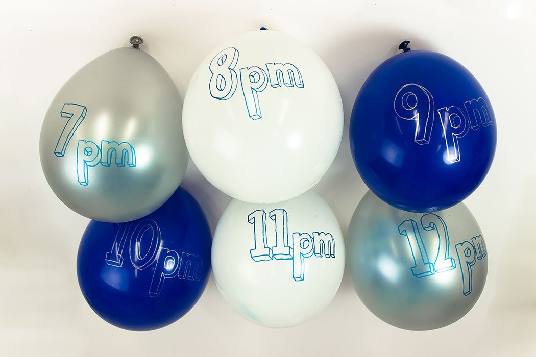 New Year's Eve Party Ideas - Balloon Countdown