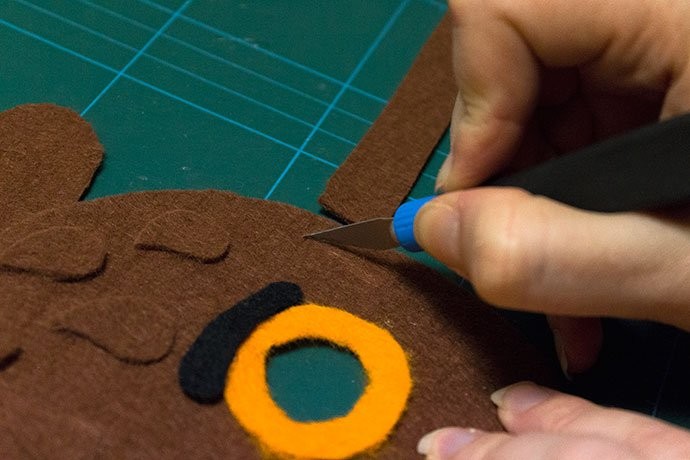 How to make a gruffalo mask for World Book Day - Step 9