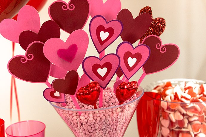Red Heart Centerpieces : Valentine s ideas to melt your heart party delights