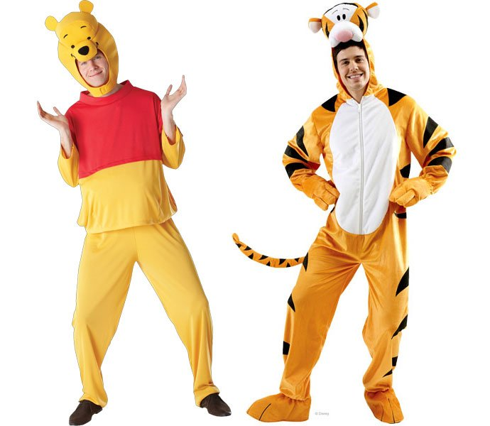 Winnie the Pooh and Tigger World Book Day Costumes for Adults