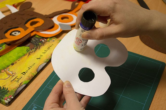 How to make a gruffalo mask for World Book Day - Step 1