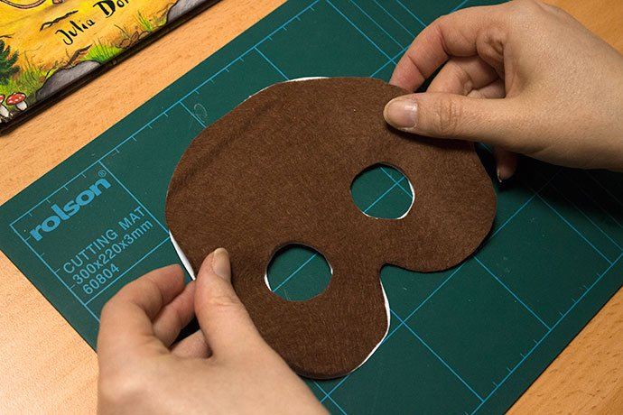 How to make a gruffalo mask for World Book Day - Step 2