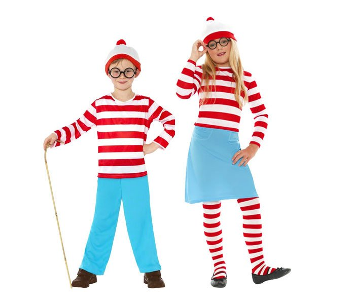 Where's Wally World Book Day Costumes for Kids