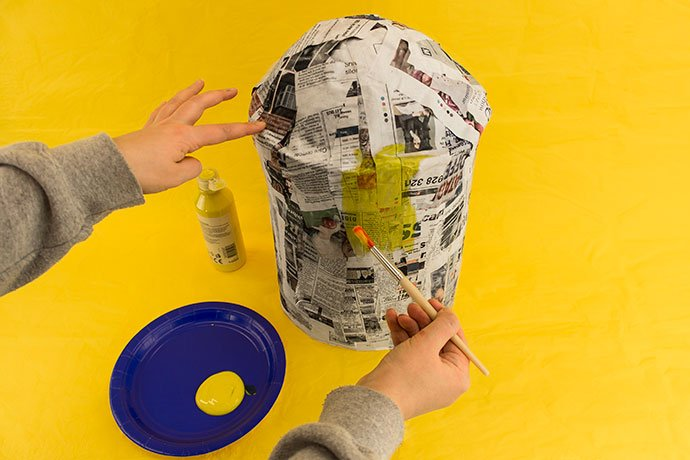 How to Make a Minion Piñata Step 3