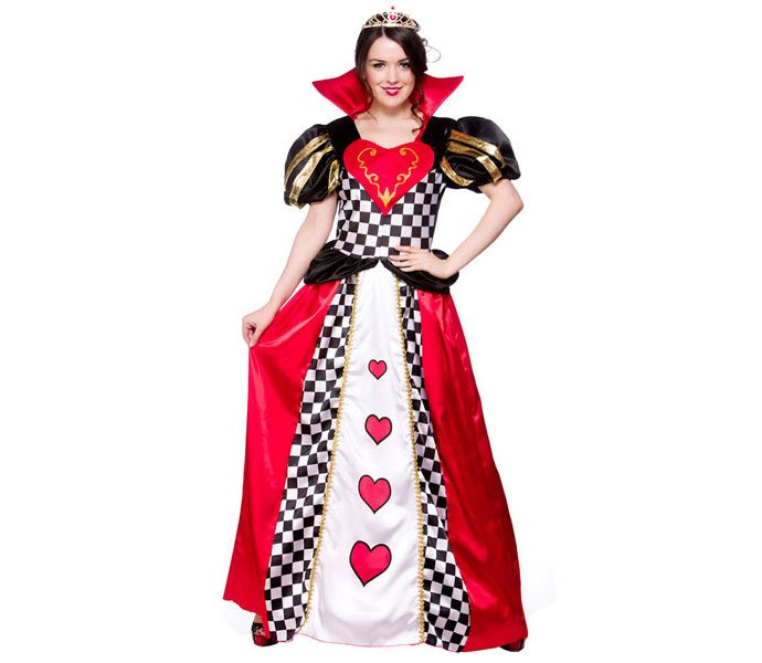 Queen of Hearts Book Character Costumes for Adults