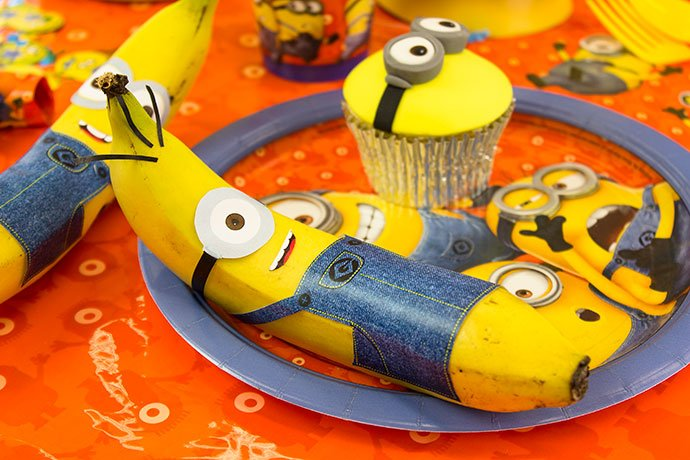 Minion Party Ideas - Minion Bananas and Cupcakes