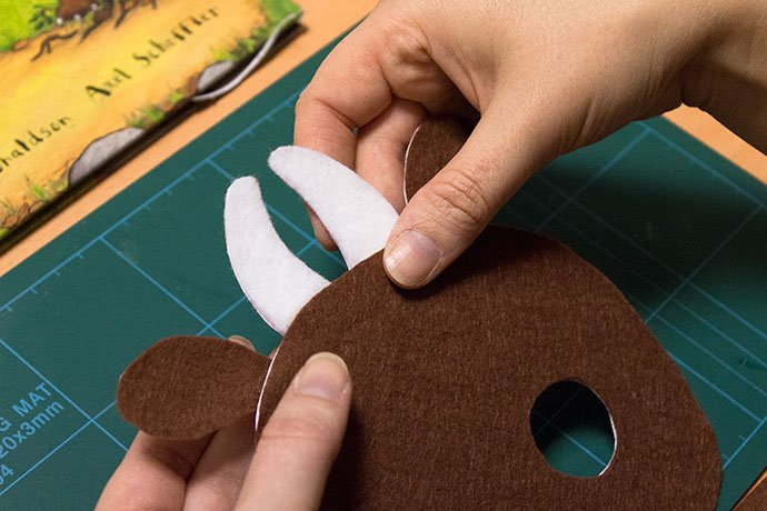 How to make a gruffalo mask for World Book Day - Step 6