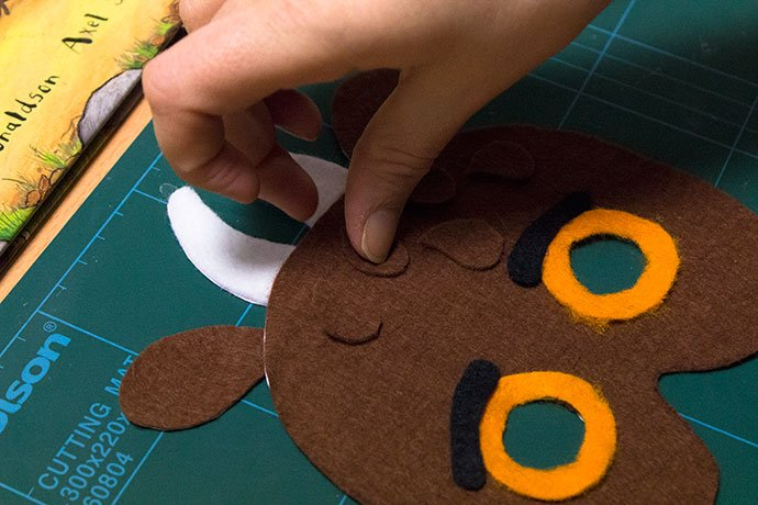 How to make a gruffalo mask for World Book Day - Step 8