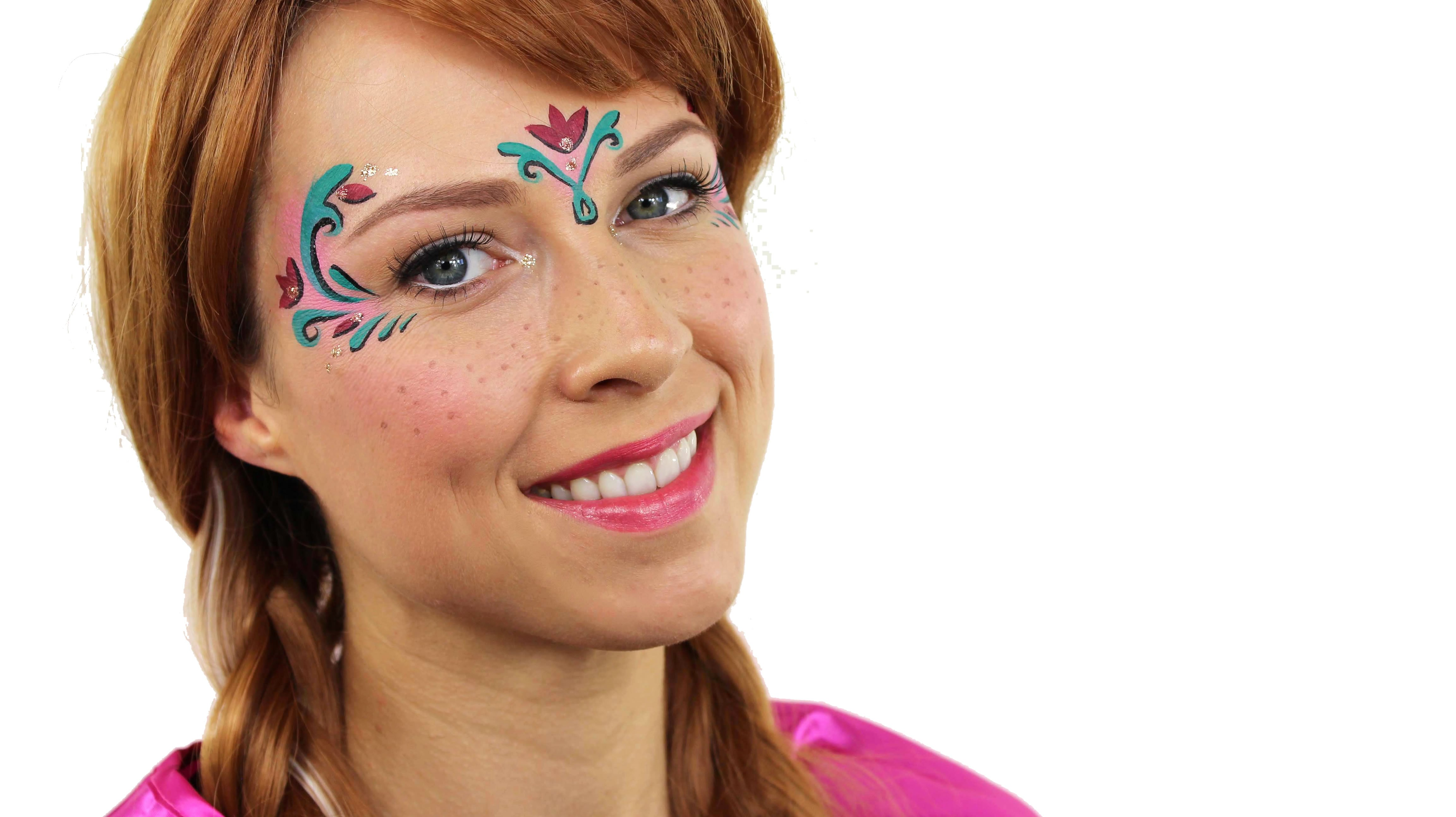 Anna for Frozen face paint