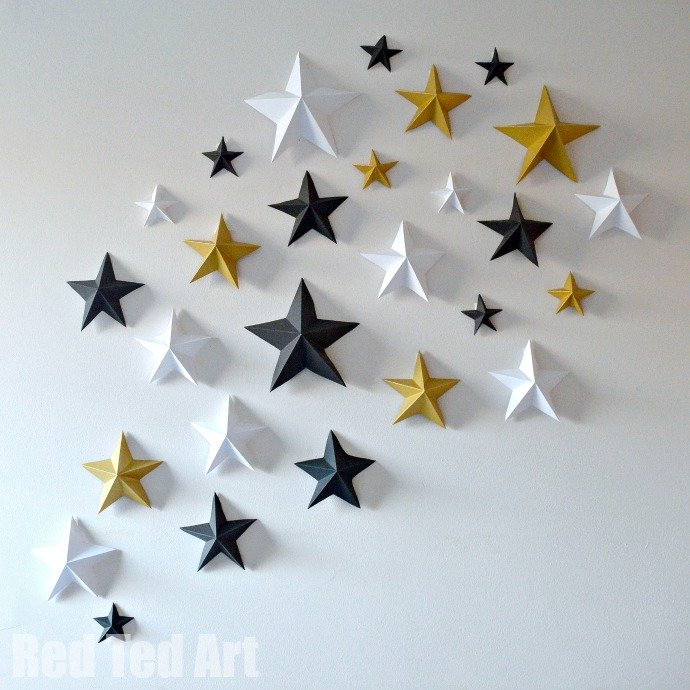 Throw an oscars party party delights blog for 3d star decoration