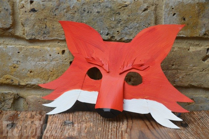 Fantastic mr fox diy mask for world book day party for Fantastic mr fox mask template