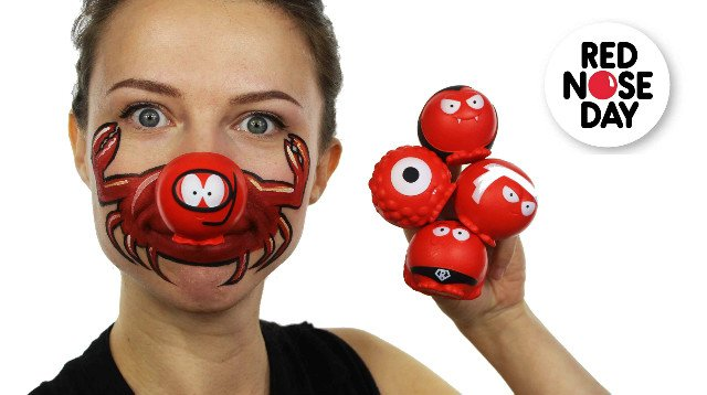 Red Nose Day face paint ideas