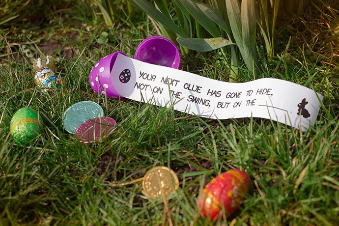 Free Easter egg hunt clues for kids