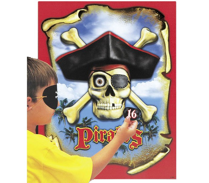 Pirate party games - pin the patch on the pirate