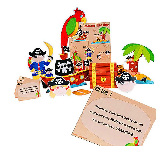 Pirate party games - pirate treasure hunt