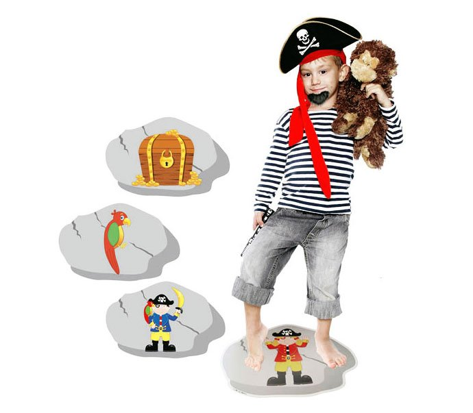 Pirate party games - stepping stone game