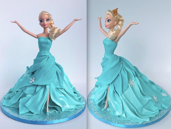 Frozen Birthday Cakes Designs