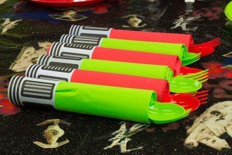 Free Printable Star Wars Lightsaber Napkin Wraps