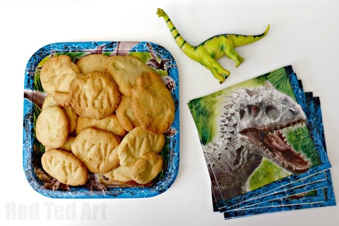 Finished Dino Fossil Cookies