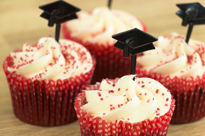Graduation Party Ideas - Mortar Board Cake Toppers
