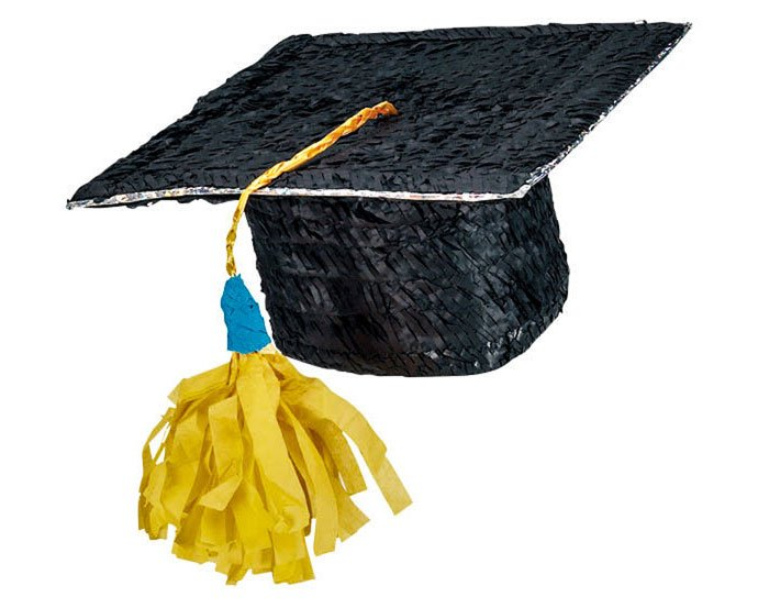 Graduation Party Ideas Mortar Board Piñata