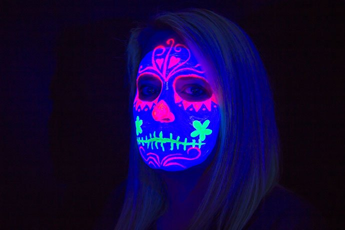 Simple Neon & UV Face Paint Designs - Party Delights Blog