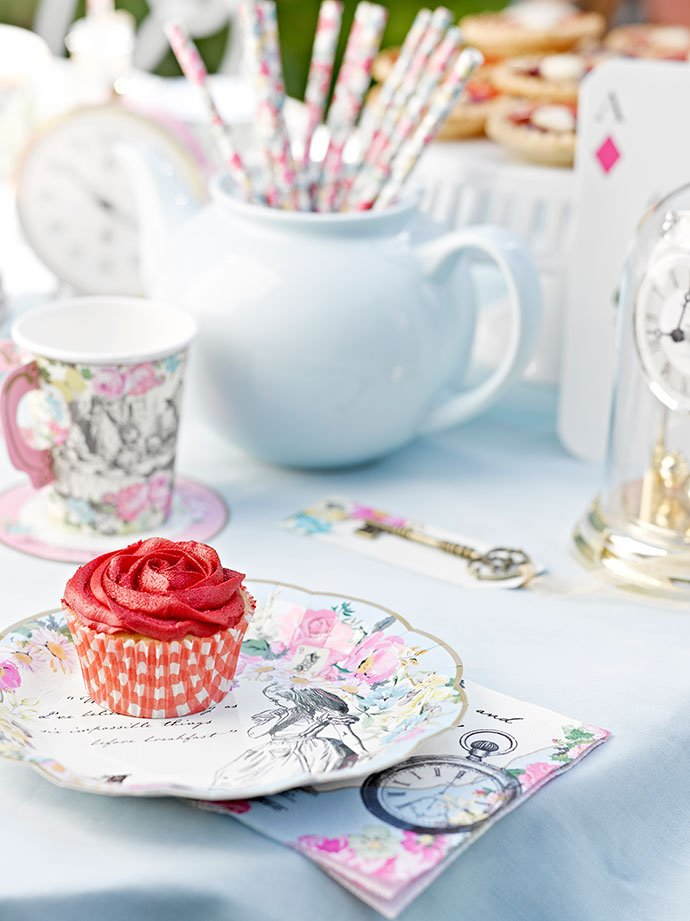 Tableware Accessories for an Alice in Wonderland Tea Party