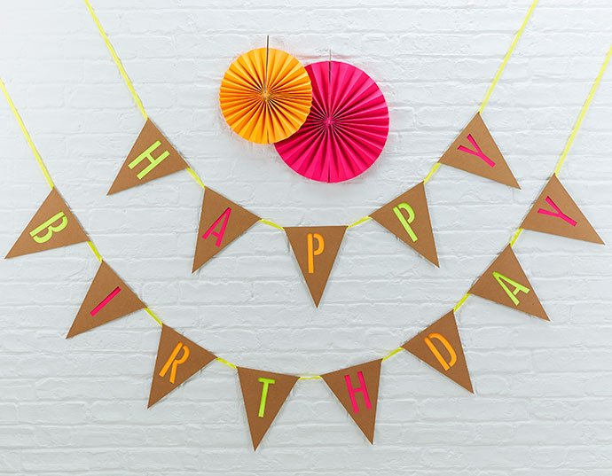 Party Planning Checklist Bunting