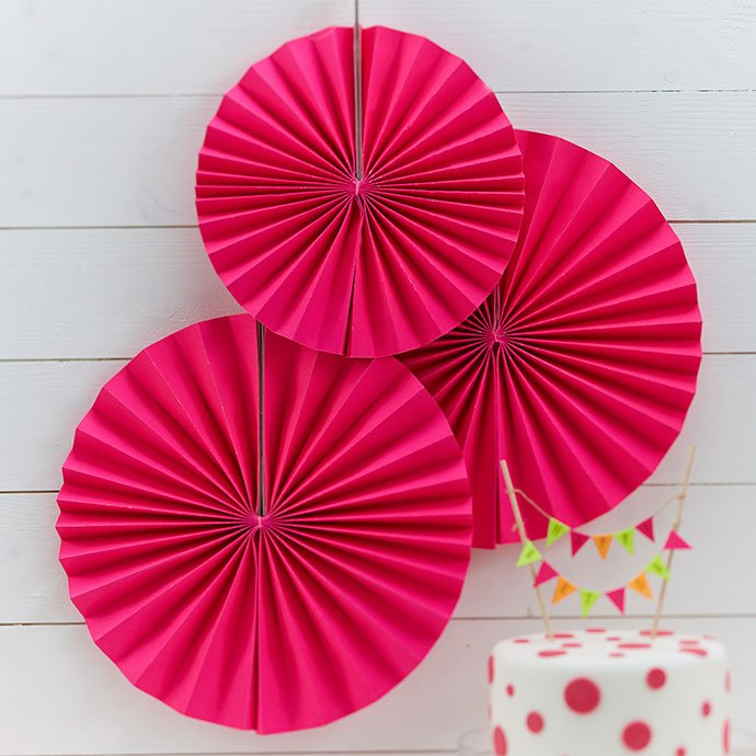 Pink Fan Decorations
