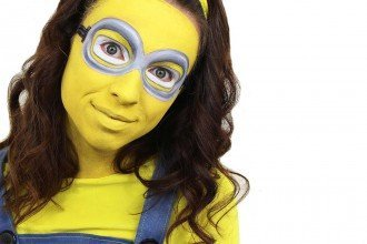 Easy Minion Face Paint Tutorial