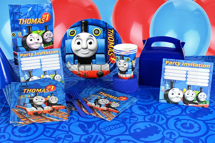 Thomas the Tank Engine party supplies for a pre-school birthday party