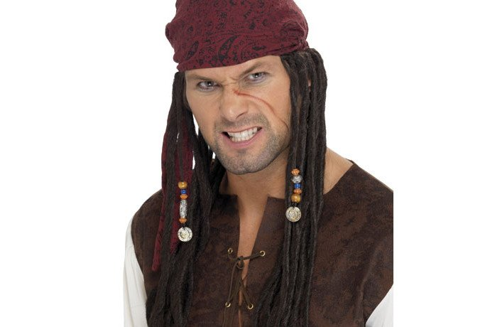 Cheap Pirate Wig with Scarf
