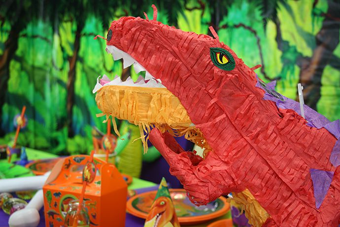 Dinosaur Piñata Game for a Kids Birthday Party