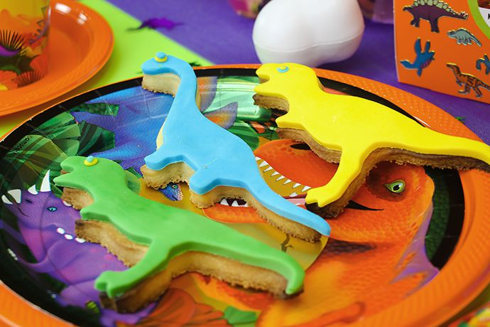 Dinosaur Cookies for a Dinosaur Birthday Party