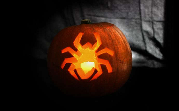 Easy Spider Pumpkin Idea