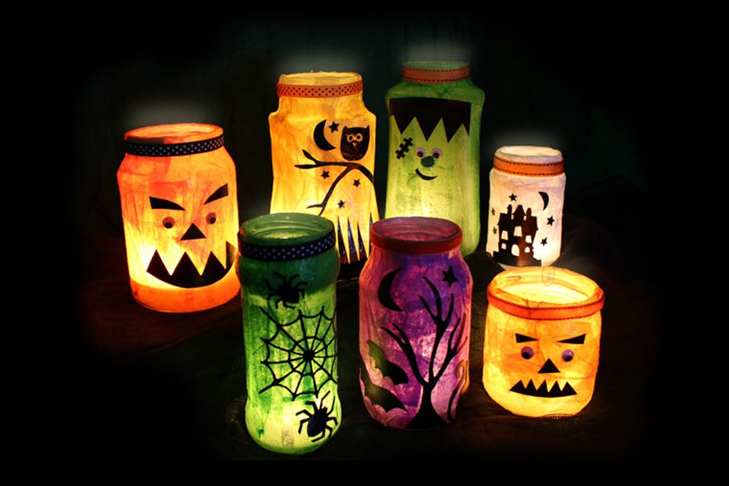 5 easy diy halloween decorations - Homemade Halloween Centerpieces